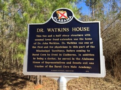 Dr. Watkins House Marker image. Click for full size.