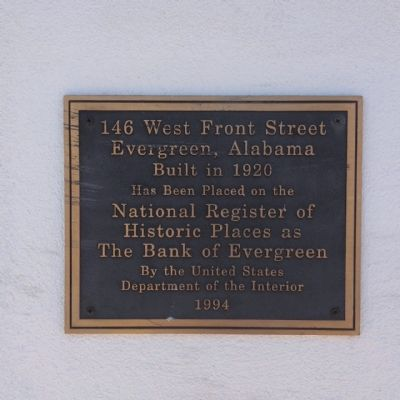 The Bank of Evergreen Marker image. Click for full size.