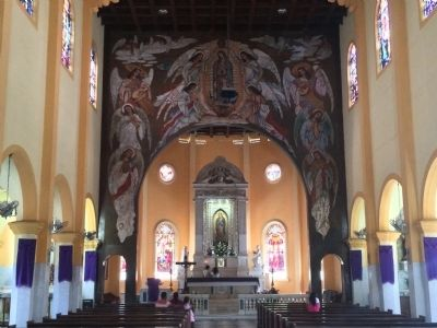 Interior of the Ceiba de Guadalupe Church image. Click for full size.