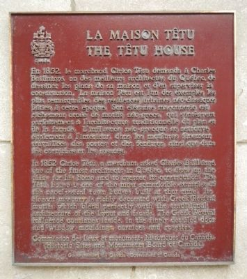 The Têtu House Marker image. Click for full size.