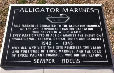 Alligator Marines Marker image. Click for full size.