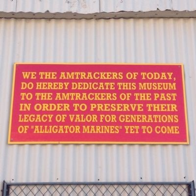 Sign on nearby Amphibious Tractor museum wall. image. Click for full size.