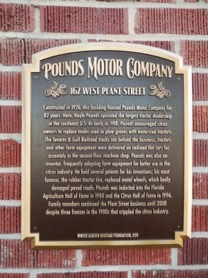 Pounds Motor Company Marker image. Click for full size.