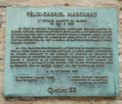 Felix-Gabreil Marchand Marker image. Click for full size.