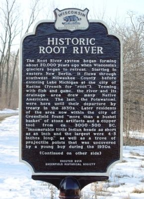 Historic Root River Marker image. Click for full size.