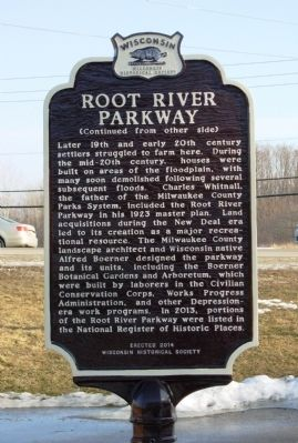 Root River Parkway Marker image. Click for full size.