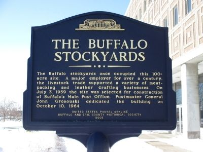 The Buffalo Stockyards Marker image. Click for full size.