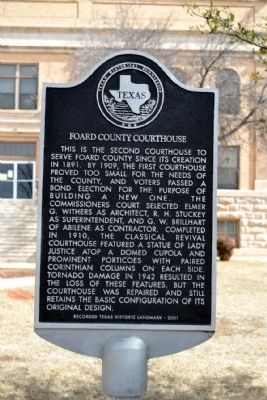 Foard County Courthouse Marker image. Click for full size.