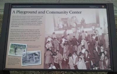 A Playground and Community Center Marker image. Click for full size.