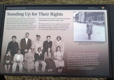 Standing Up for Their Rights Marker image. Click for full size.