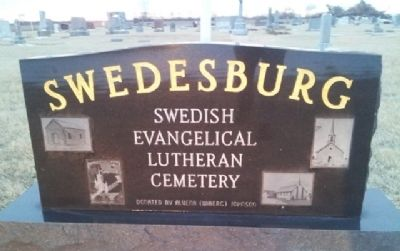 Swedesburg Swedish Evangelical First Lutheran Church Cemetery Marker image. Click for full size.