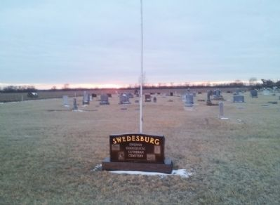 Swedesburg Swedish Evangelical First Lutheran Church Cemetery and Marker image. Click for full size.