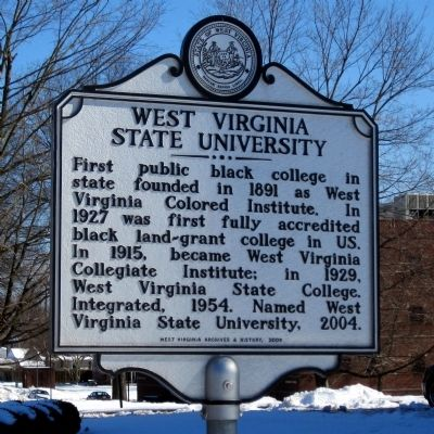 West Virginia State University Marker image. Click for full size.