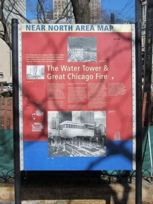 The Water Tower & Great Chicago Fire Marker image. Click for full size.