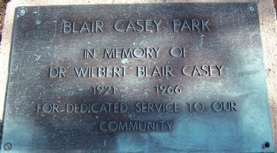 Blair Casey Park Marker image. Click for full size.