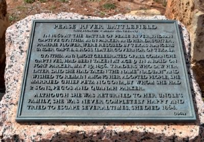 Pease River Battlefield Marker image. Click for full size.