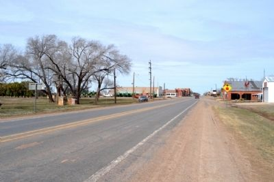 View to North Along Main Street Towards Downtown Crowell image. Click for full size.