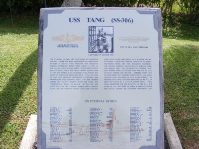 USS Tang (SS-306) Marker image. Click for full size.