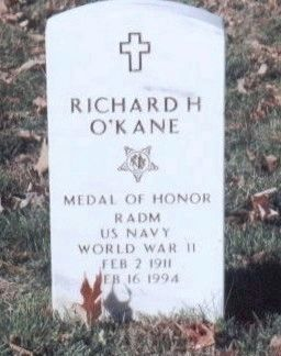 Richard O'Kane grave marker image. Click for full size.