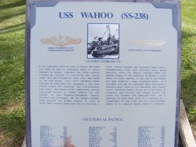 USS Wahoo (SS-238) Marker image. Click for full size.