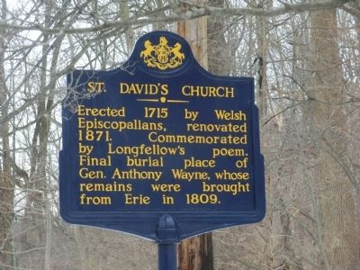 St. David's Church Marker image. Click for full size.