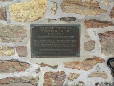 Radnor Friends Meeting House Marker image. Click for full size.