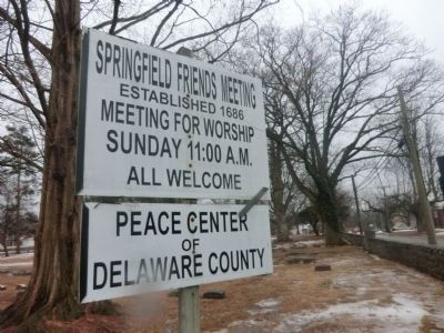 Springfield Friends Meeting Established 1686 image. Click for full size.
