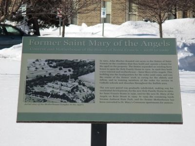 Former Saint Mary of the Angels Marker image. Click for full size.