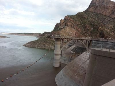Coolidge Dam, 2015 image. Click for full size.