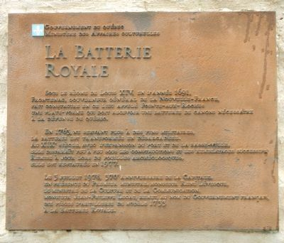 La Batterie Royale Marker image. Click for full size.