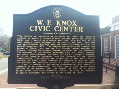 W. E. Knox Civic Center Marker image. Click for full size.