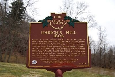 Uhrich's Mill 1806 Marker image. Click for full size.
