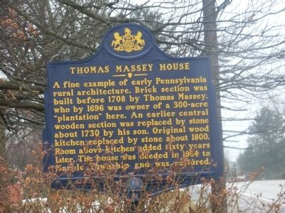 Thomas Massey House Marker image. Click for full size.
