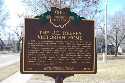 The J.E. Reeves Victorian Home Marker image. Click for full size.