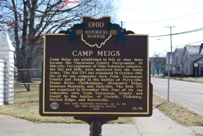 Camp Meigs Marker image. Click for full size.