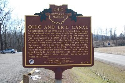 Ohio and Erie Canal Marker image. Click for full size.