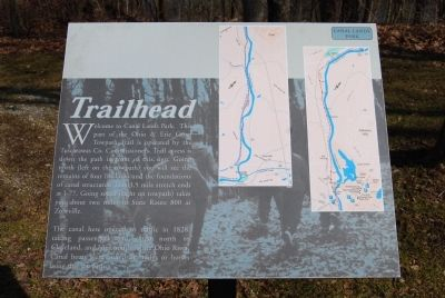 Ohio and Erie Canal Trail Map image. Click for full size.