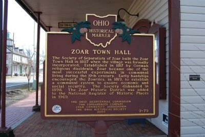Zoar Town Hall Marker image. Click for full size.