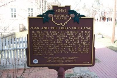 Zoar and The Ohio & Erie Canal Marker image. Click for full size.