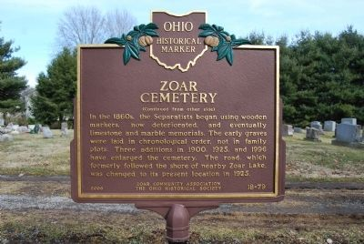 Zoar Cemetery Marker image. Click for full size.