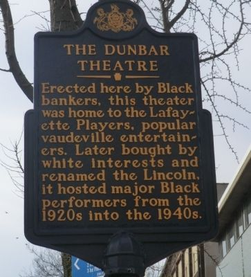 The Dunbar Theatre Marker image. Click for full size.