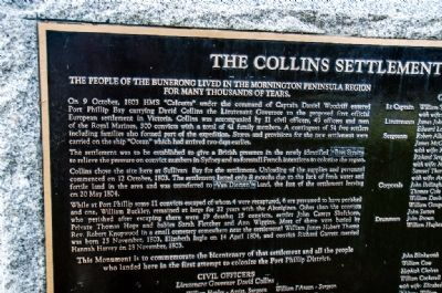 Collins Settlement 1803-04 Marker image. Click for full size.