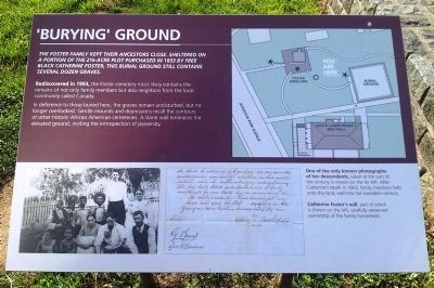 'Burying' Ground Marker image. Click for full size.