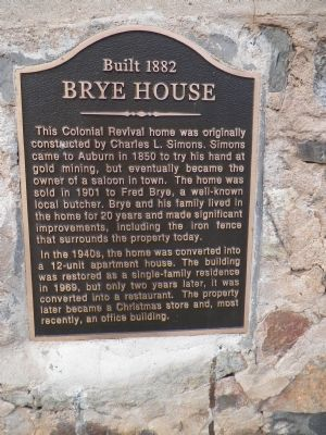 Brye House Marker image. Click for full size.
