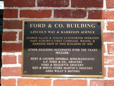 Ford & Co. Building Marker image. Click for full size.
