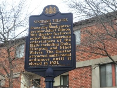 Standard Theatre Marker image. Click for full size.