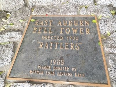 East Auburn Bell Tower Marker image. Click for full size.