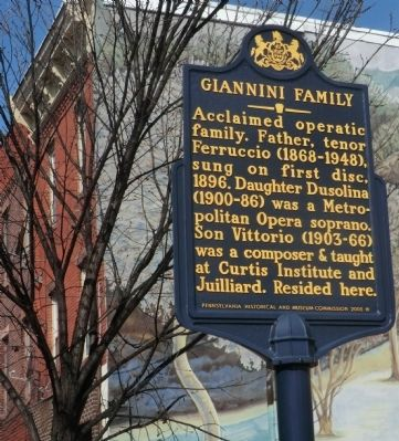 Giannini Family Marker image. Click for full size.
