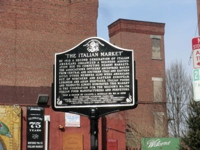 """The Italian Market"" Marker image. Click for full size."