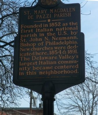 St. Mary Magdalen de Pazzi Parish Marker image. Click for full size.